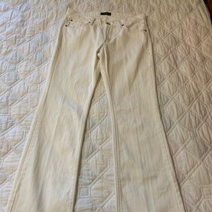 """James Jeans Hector Hi Rise 31 Long White 34"""" ins"""